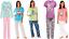 Ladies 100/% Cotton JERSEY Pyjamas Summer Animal Parrot Owl T-Shirt Full Length