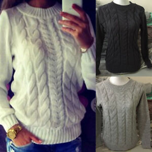 Womens-Knitted-Long-Sleeve-Cable-Knit-Jumper-Knitted-Sweater-Tops-Stock-SH