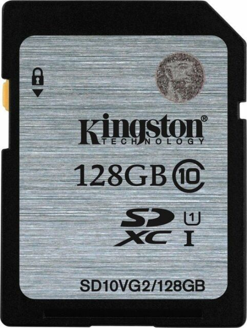 Kingston 128GB UHS-I SDXC Flash Memory Card (Class 10) CCTV Hikvision Samsung