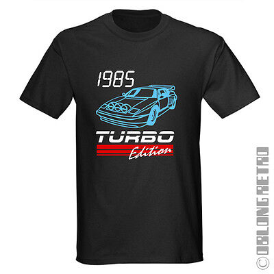 Retro 1980/'s CAR T-Shirt Black New 80/'s electro synth band music style