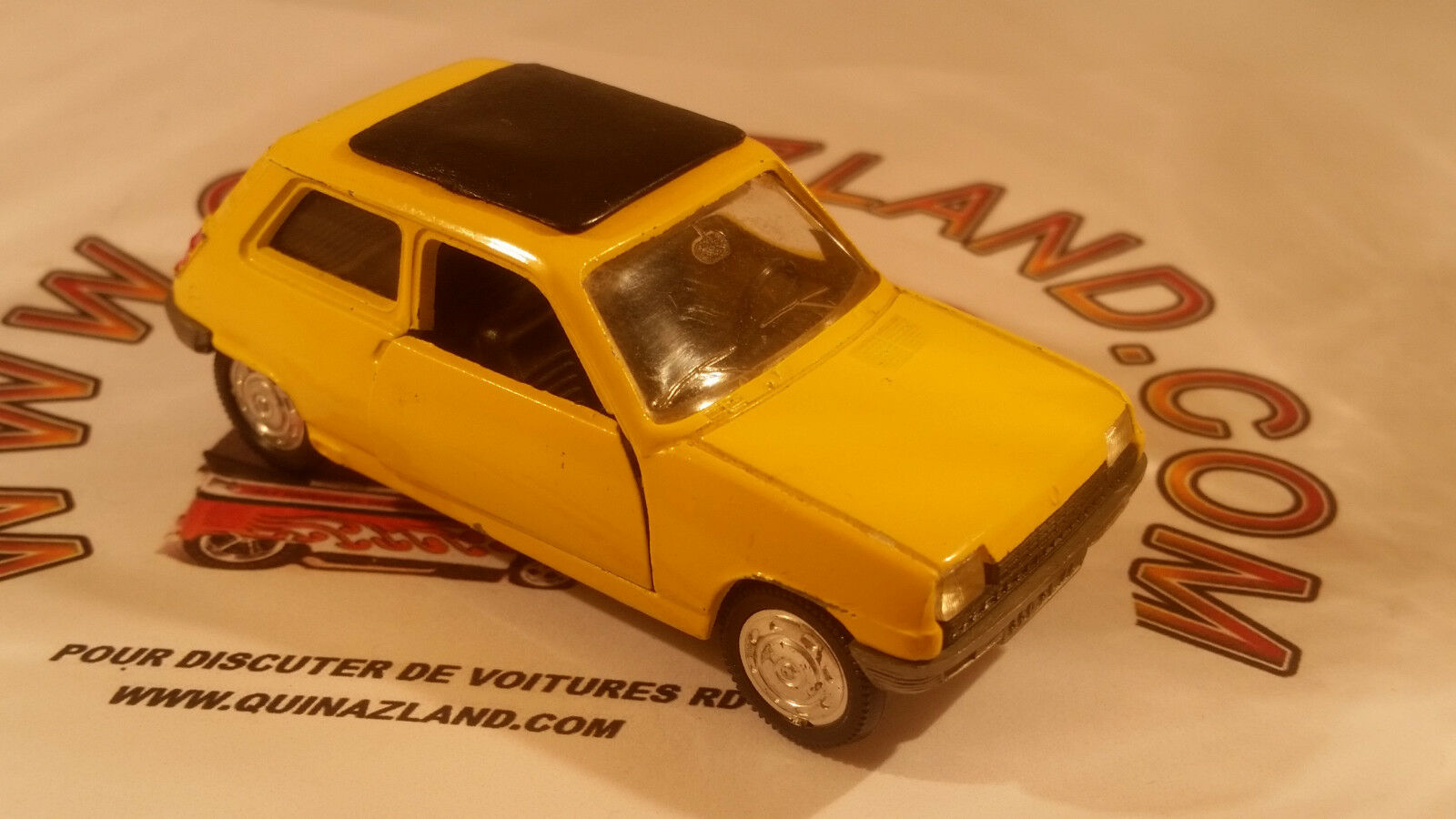 Norev jet car 1972 renault 5 r5 no. 711 1 43 made in france yellow version