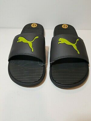 PUMA Cool Cat Slides/Sandals Grey/Lime