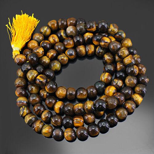 collier Les Acheteurs les plus préférés 1007.00 cts naturel doré oeil de tigre Perles rondes