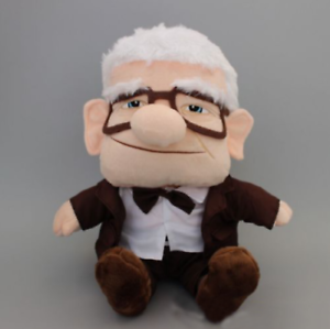 HOT-Disney-Pixar-Up-Movie-Carl-Grandpa-Plush-Soft-Doll-Figure-Toy-7-039-039