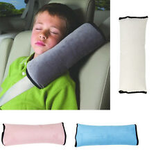 Child Car Safety Seat Belt Pillow Shoulder Strap Cushions Head Support Gray