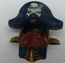 LEGO - Duplo Head Cover, Brown Beard & Dark Blue Hat w/ Skull & Crossbones