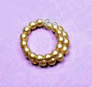 Dreamz-GOLD-Pearl-SNAKE-BRACELET-made-for-11-034-Barbie-Doll-Jewelry