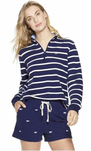 Women/'s Striped 1//4 Zip Pullover Navy vineyard vines for Target NEW!!