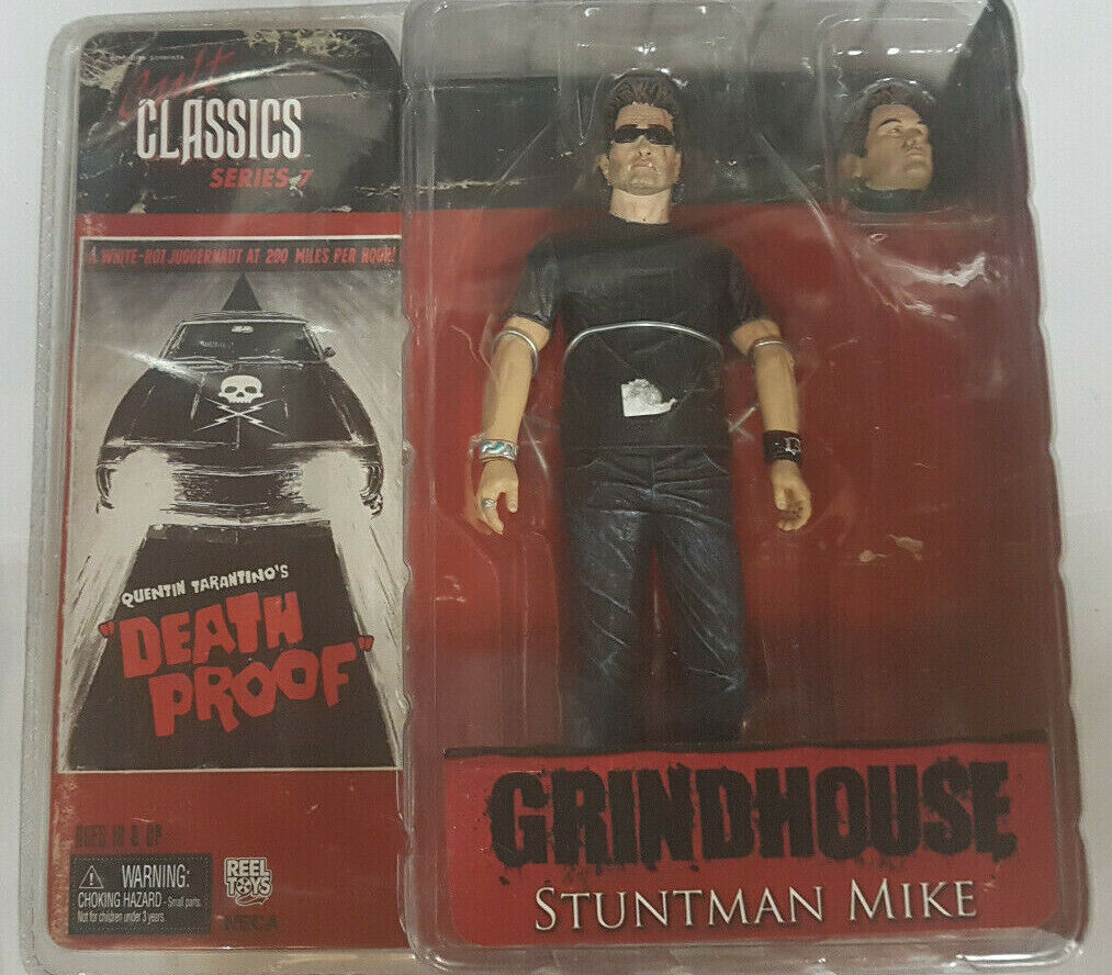 GRINDHOUSE SERIES 7 STUNTMAN MIKE AF ACTION FIGURE NECA NUOVO