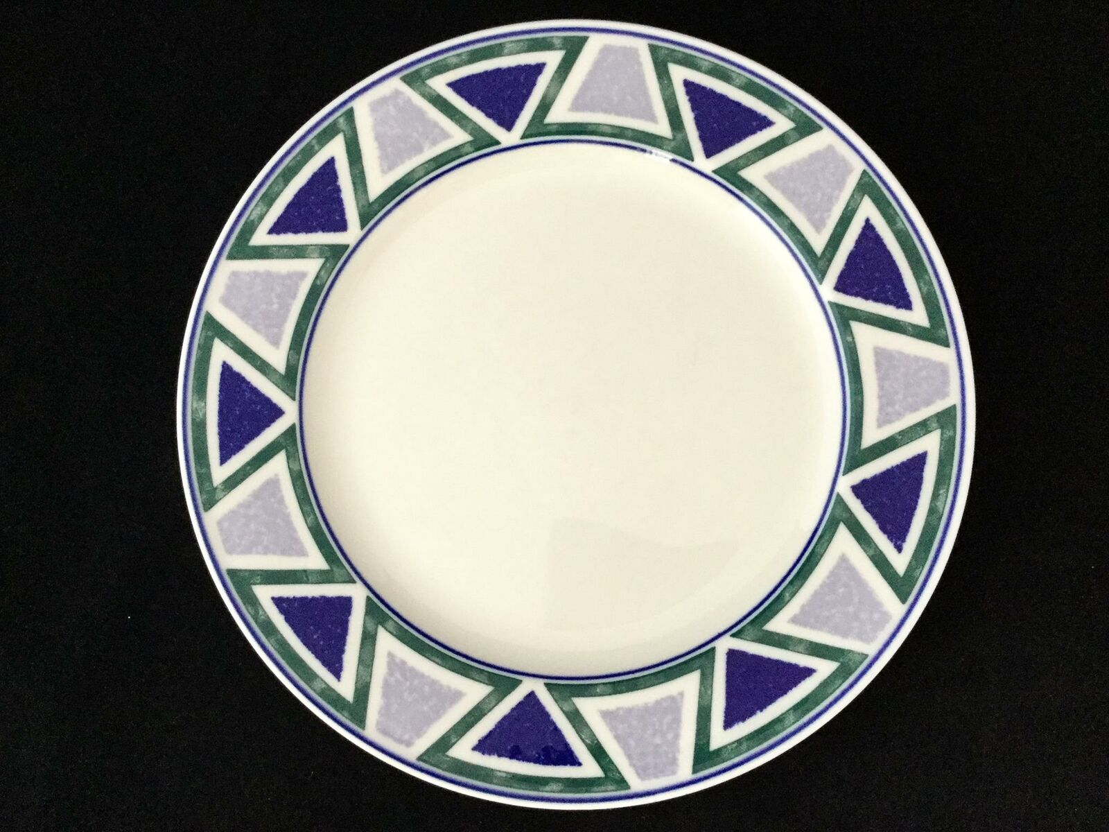 Set of 4 Studio Nova JJP01 VISTA 10 3 4  Blau Grün Dinner Plates- FREE SHIPPING
