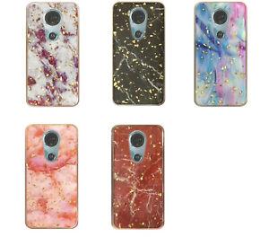 For Motorola Moto E5 Xt1920dl 5 7 Marble Glitter Tpu Flexible Skin Case Cover Ebay