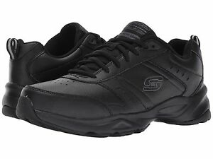 83dc03d42b32 Image is loading Skechers-Men-039-s-Haniger-Black-Leather-Lightweight-