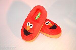 Sesame-Street-Elmo-Toddler-Girls-Boys-Slippers-Size-M-L-7-8-9-10-Red-Soft-NWT