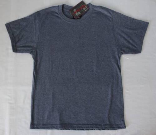 NEW Boys T Shirt Size 8-10 Medium Top Blue Short Sleeve Crew Neck Soft School