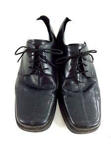 Nunn Bush Nxxt Mens Black Leather Lace Up Oxfords Size 11