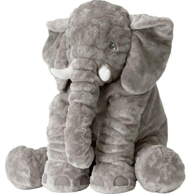 Grey Elephant Stuffed Animals Rainbow Fox Plush Toy Cushion Gray