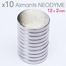 Lot de 10pcs Aimant Neodyme Neodium disque rond puissant super magnet 12mm x 2mm