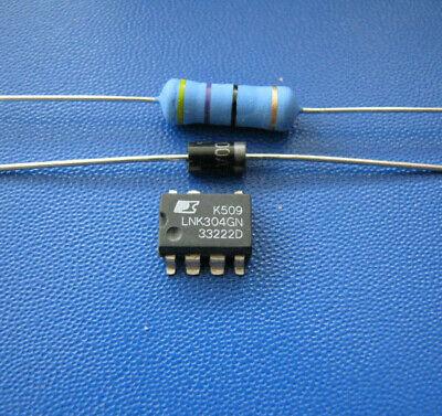 Widerstand 47 Ohm Entlötlitze Überspannungsschutzdiode P6KE200 IC LNK304GN