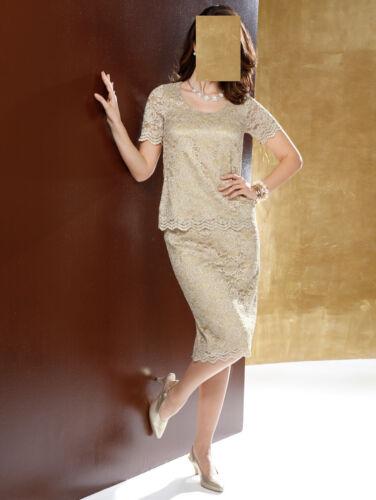 Abend Spitzen Kostüm gold Gr 46 0518079103