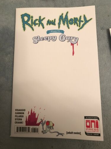 RICK /& MORTY PRESENTS SLEEPY GARY NEW YORK COMIC CON EXCLUSIVE RARE