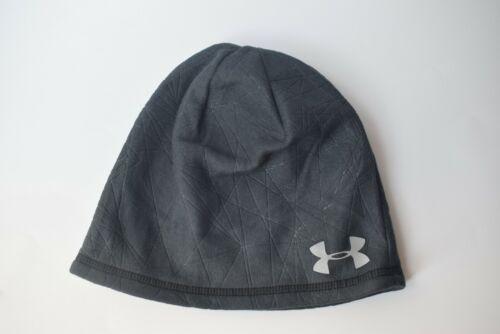 Under Armour UA ColdGear Infrared Emboss Run Beanie Men Reflective Logo Hat OSFM