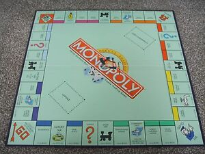 MONOPOLY-1995-Deluxe-Edition-Gameboard-Replacement-Part-Piece-Game-Board-Only