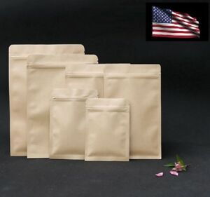 Resealable-Kraft-Paper-Zipper-Pouch-Bags-Food-Storage-Bags-Smell-Proof-Pouches