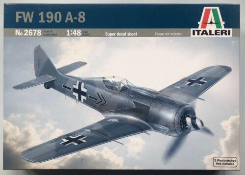 Italeri 2678 FW 190 A-8 1//48 Model Kit NIB