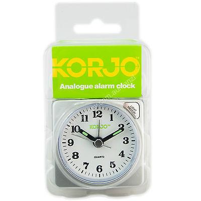 NEW Korjo Analogue Travel Alarm Clock