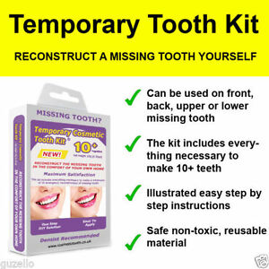 2x false teeth temporary missing tooth replacement diy kit ebay image is loading 2x false teeth temporary missing tooth replacement diy solutioingenieria Images