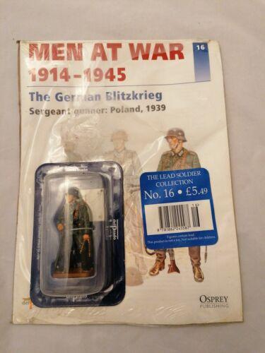 Pologne 1 Del Prado Men at War Issue 16 LE BLITZKRIEG allemand-sergent artilleur