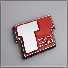 T Sport Car Badge Logo Sticker Toyota Yaris VVTi Celica MR2 Corolla Rear Boot
