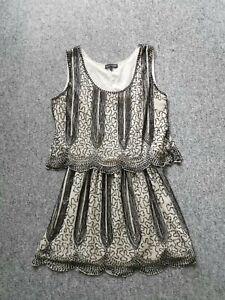 Formal-wedding-Gatsby-Flapper-Beaded-Signature-Next-White-Black-dress-12