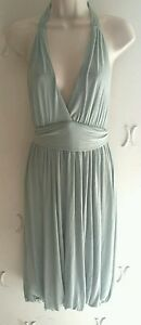 BCBG-NWT-Women-039-s-Mint-Halter-Bubble-Dress-Large-Rayon-Summer-Beach-246