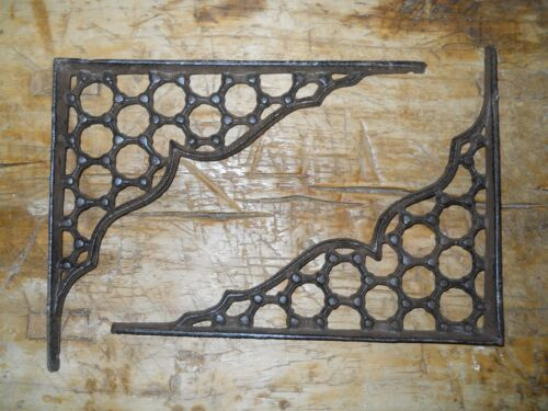 6 Cast Iron Antique Style LARGE RING Brackets Garden Braces Shelf Bracket