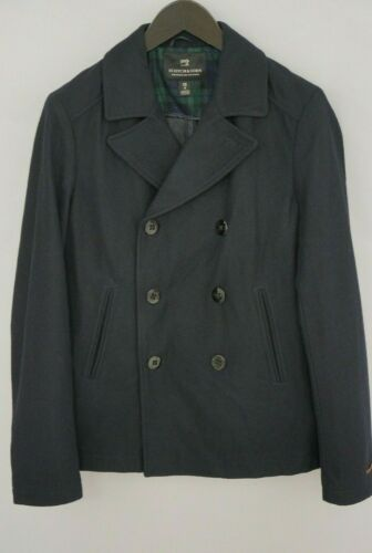 Men Scotch & Soda Pea Coat Breathable Business For