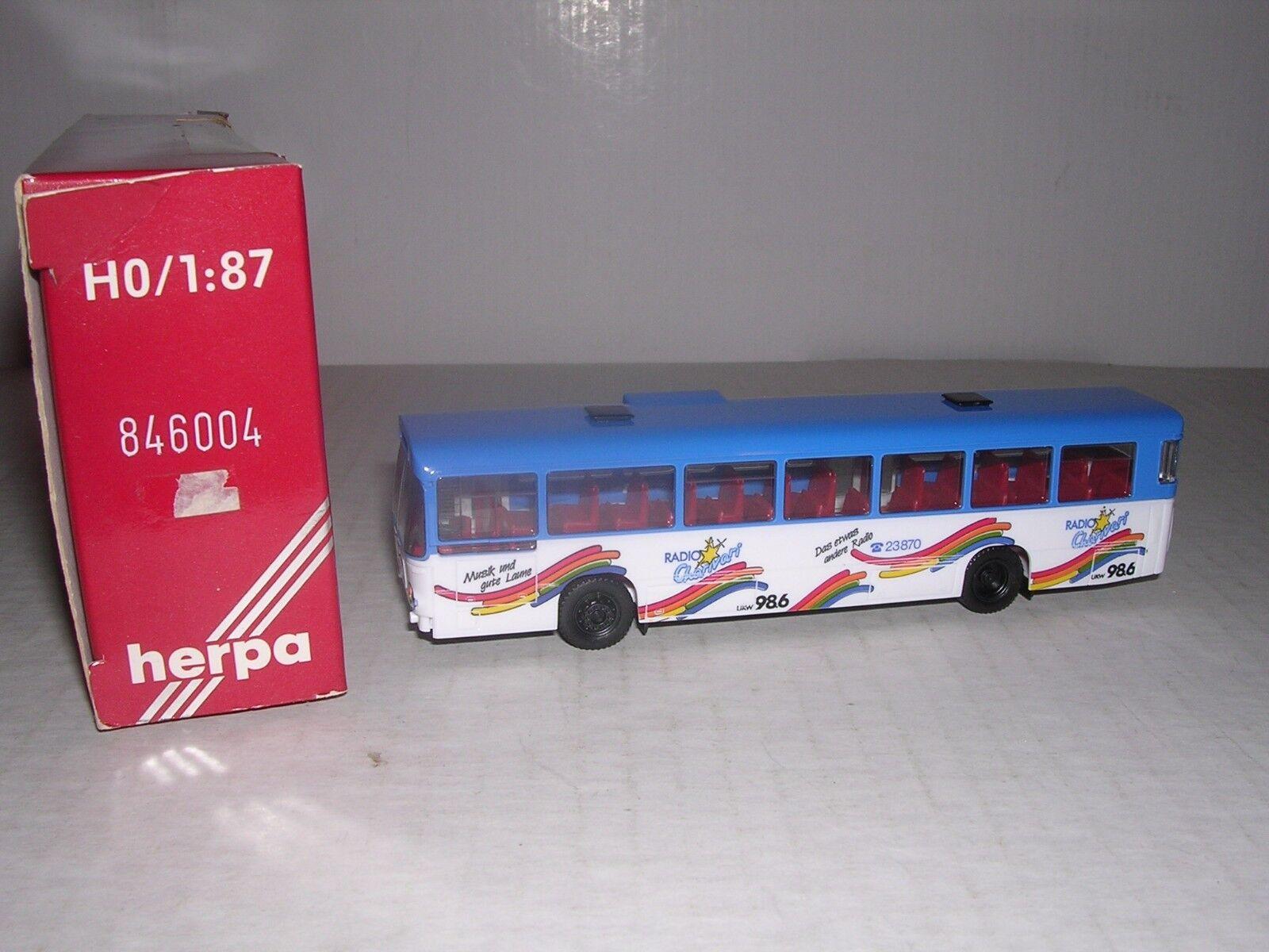 HERPA Man SL200 Rainbow Bus  bluee & White H.O.Scale 1 87