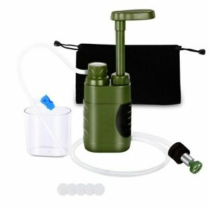 Outdoor Water Filter Purifier Straw for Filtration System Survival Camping Gray