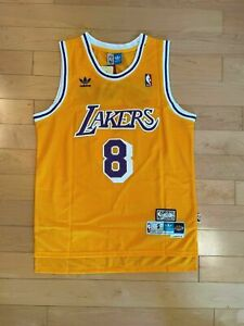 Throwback Kobe Bryant#8 Los Angeles Lakers Yellow(Gold) Mens ...
