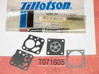 Genuine Pioneer 474800 Diaphragm Gasket Kit Hu Tillotson Carburetor Dg1hu