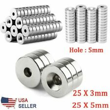 5 50pcs N35 Countersunk Ring Round Disc Strong Magnets Rare Earth Neodymium Hole