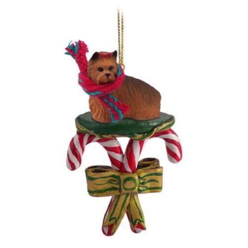 Yorkshire Terrier YORKIE Candy Cane Holiday ORNAMENT