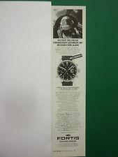 9/2000 PUB MONTRE FORTIS WATCH MIG 25 WORLD RECORD ORIGINAL GERMAN ADVERT