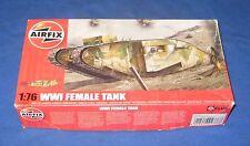 Airfix WW1 Female Tank 1/76 Scale Model Kit