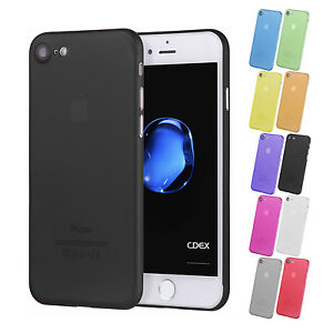 UltraSlim-Case-iPhone-8-7-Plus-Matt-Clear-Schutz-Huelle-Skin-Cover-Schale-Folie