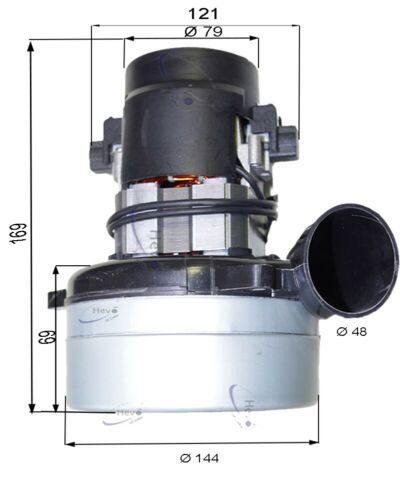HEVO-Pro-Line ® Aspirapolvere Motore 230 V 1200 W Allaway 1700