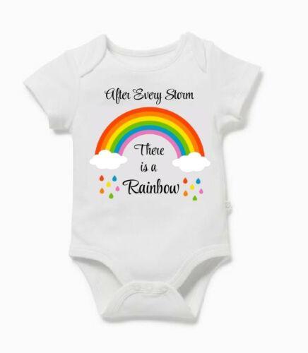 Pregnancy Announcement Rainbow Baby Grow Vest Bodysuit