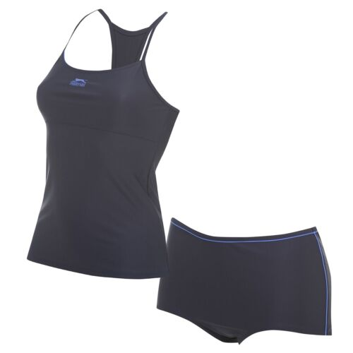Donna Tankini Set Costume DONNA SLAZENGER NUOTO SWIMSUIT SWIMWEAR Triathlon