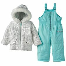 Carter's Fairisle Puffer Jacket & Bib Snow Pants Set - Toddler Girl - 4T - NWT