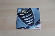 78902) Alfa Romeo 147 Prospekt 01/2001